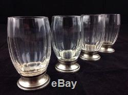 1912 Schiffmacher Argent Minerve 4 Verres Madere Licor Cristal Taille Baccarat