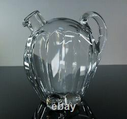 Ancienne Carafe Digestif Ou Whisky Cristal Taille Cotes Plates Baccarat Signe