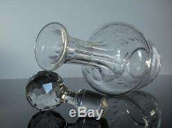 Ancienne Carafe En Cristal Taille Service Cartagena Val St Lambert 1930