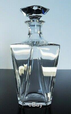Ancienne Carafe Whisky Cognac Cristal Souffle Taille Harcourt Baccarat Signe