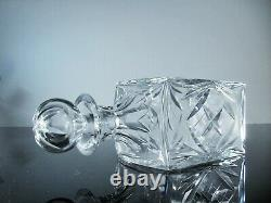 Ancienne Carafe Whisky Cristal Massif Taille Modele Chantilly St Louis Signee
