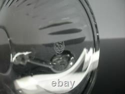 Ancienne Carafe Whisky Cristal Taille Cotes Plates Talleyrand Baccarat Signe