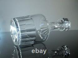 Ancienne Carafe Whisky En Cristal Massif Taille Modele Caton St Louis Signee