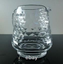 Ancienne Cruche Broc Carafe En Cristal Taille Chauny Baccarat Signe