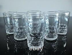 Ancienne Service 6 Gobelets Verres Cristal Taille Modele Chauny Baccarat Signe
