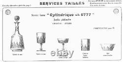 Baccarat-6 Coupes A Champagne Serv Cylindrique Taille 5777-richelieu-champigny-2