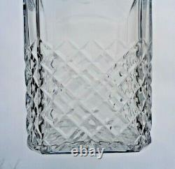 Baccarat Burgos Whiskey Wine Decanter Carafe A Whisky Cristal Taille Art Deco