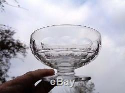 Baccarat Charmes 4 Tall Sherbet 4 Coupes A Champagne Cristal Taillé Art Deco