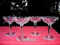 Baccarat Compiegne 4 Tall Sherbet Coupes A Champagne Cristal Taillé Sektgläser