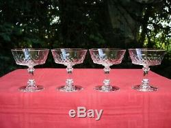 Baccarat Ecailles Ecaille Tall Sherbet Glasses Coupe A Champagne Cristal Taillé