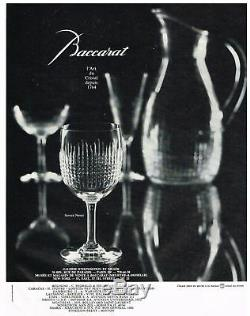 Baccarat Nancy 4 Tall Sherbet Crystal Glasses Coupe A Champagne Cristal Taillé
