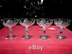 Baccarat Nemours 4 Tall Sherbet Glasses 4 Coupes A Champagne Cristal Taillé