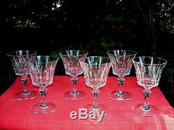 Baccarat Piccadilly Water Crystal Glasses Weingläser Verre A Eau Cristal Taillé