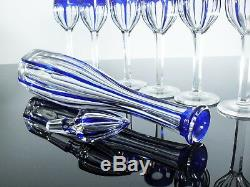 Baccarat Service A Madére Cristal Taille Couler Carafe 6 Verres A Rhin Signe