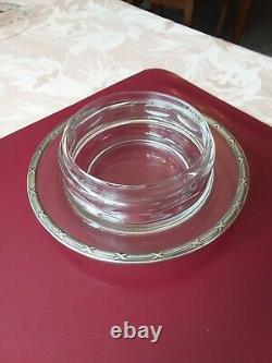 Cloche A Fromage CRISTAL taille et ARGENT massif