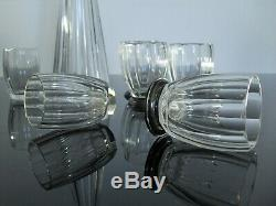 Service A Digestif Carafe 11 Gobelets Cristal Taille Argent Pyramide Baccarat